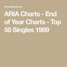 ARIA Charts - End of Year Charts - Top 50 Singles 1989