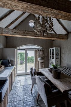 Hoffz - Marianne Knicknie - - The Joy Business,Aktuelle Style At Home, Interior And Exterior, Interior Design, Ivy House, Rustic Kitchen, Country Kitchen, Rustic Interiors, Beautiful Interiors, Architecture