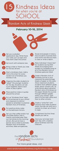 15 Kindness Ideas for when you're at school #RAKWeek #CelebrateKindness #NNCW