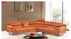 ESF Sectional Sofa 533Description :  The ESF 533 Leather Living Room Sectional Sofa is one of the newest collections that is sure to look great in any style home. The ESF  Sectional features  leather / PVC upholstery.  Modern design leather sectional with exchangeable configuration. Materials :Modern L-Shaped Sectional SofaDurable ConstructionOrange Thick Leather/PVC UpholsteryWith Pillow  Dimensions: Sectional  Sofa : W 123/123 x D 38.5 x H 33/40  (Swatches : See leather options in this…