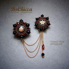 Фотография Bead Embroidery Jewelry, Beaded Embroidery, Brooches Handmade, Handmade Jewelry, Bead Earrings, Beaded Necklace, Fine Jewelry, Jewelry Making, Beaded Brooch