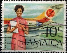 CIRCA 1972: Air Jamaica/Air Hostess .