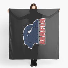 'Football Fan Gift Bill's Mafia' Scarf by Gifts For Football Fans, Football Crafts, Football Team, Mafia, Scarf Design, Lacrosse, Sell Your Art, Cool Stuff, Stuff To Buy