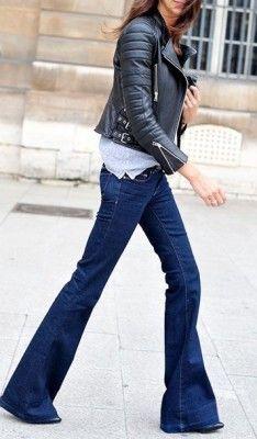 flare-jeans-black-leather-moto-jacket-fall-via-pinterest