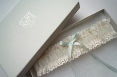 a l i c e ivory lace garter by florriemitton on Etsy