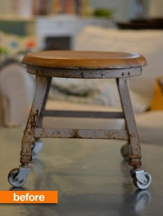 flea market flips before and afters | ... potential. See how she gave this flea market find a fresh facelift