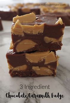 This easy No Bake 3 Ingredient Chocolate Caramilk Fudge Recipe is perfect for your Easter celebrations! Both regular and Thermomix instructions included. Milk Recipes, Fudge Recipes, Sweet Recipes, Baking Recipes, Dessert Recipes, Muffin Recipes, Homemade Chocolate, Chocolate Recipes, Easter Chocolate