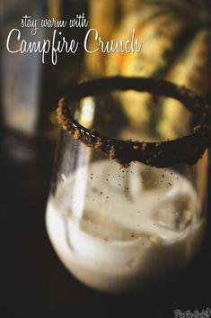 Campfire Crunch cocktail recipe with Kahlua, cream and Jack Daniels Tennesse Honey from PasstheSushi.com