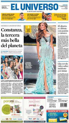Portada de #DiarioELUNIVERSO del domingo 10 de noviembre del 2013.  Las noticias del día en: www.eluniverso.com