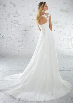 Voyage - 6885 - Kamella - All Dressed Up, Bridal Gown - Morilee - - Wedding Gowns Dresses Chattanooga Hixson Shops Boutiques Tennessee TN Georgia GA MSRP Lowest Prices Sale Discount Mori Lee Wedding Dress, Chiffon Wedding Gowns, Bridal Wedding Dresses, Wedding Dress Styles, Designer Wedding Dresses, Chiffon Gown, Illusion Neckline Wedding Dress, Boho Gown, Wedding Dress Pictures