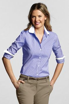 Great top for women from petite to plus size with khakis or slacks for work.