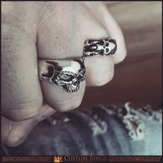 "Polubienia: 88, komentarze: 2 – Greg Skullptor Wojdak (@customrings.pl) na Instagramie: ""Men's #sugarskull #ring #silver #harleydavidson #skullring #customrings @customrings.pl…"""