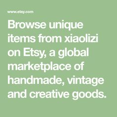 Browse unique items from xiaolizi on Etsy, a global marketplace of handmade, vintage and creative goods.