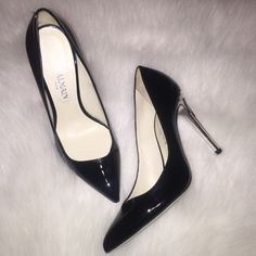 "NEW Balmain pumps A classic black pump with beautiful detail!  Black patent leather Balmain pumps with silver heel.  Absolutely stunning!  Sz 36 and too big for me.  I wear a 5.5.  Has a 4.5"" heel.  Made in France.  Doesn't include box but includes dust bags.  NOT BALMAIN for H&M Balmain Shoes Heels"