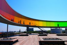 slowartday:  Olafur Eliasson, Your Rainbow Panorama, 2006-2011
