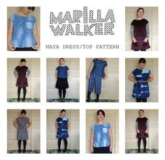 PDF Maya dress and top sewing pattern by MarillaWalker on Etsy