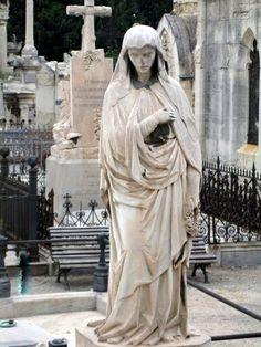 Cemitério gótico. Barcelona. Espanha.