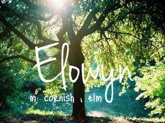 Elowyn - girl name!