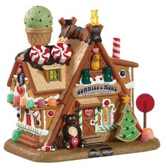 Lemax 85436 Gummies & More Candy Store - Gift Spice Lemax Christmas Village, Christmas Gingerbread House, Christmas Villages, Noel Christmas, Christmas Gifts For Women, Pink Christmas, Christmas Crafts, Christmas Decorations, Christmas Ornaments