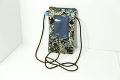 ID phone case in Teal and Brown Paisley by JoyInTheBag on Etsy