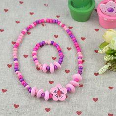 HOT! cadeau des enfants! Les enfants En Gros/enfant ensemble de bijoux Jeune collier bracelet Beau ton N CS02