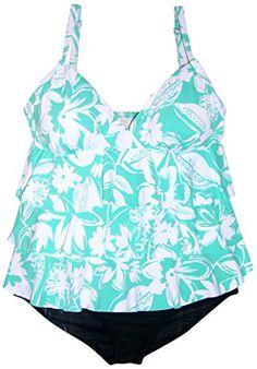 95f58e7037521 Introducing Suit Yourself 2 Piece Plus Size Ruffle Tankini Bikini Swimsuit  Set 22W Seafoam. Great Product and follow us to get more updates!