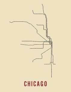 typographic maps by trnsprtnation. each trail is made of the names of the stops along each line.