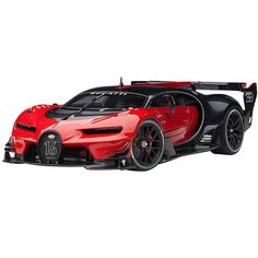 Bugatti Vision Gran Turismo Italian Red and Black Carbon Model Car by Autoart Exotic Sports Cars, Cool Sports Cars, Super Sport Cars, Exotic Cars, Bugatti Cars, Bugatti Veyron, Custom Muscle Cars, Lux Cars, Classy Cars