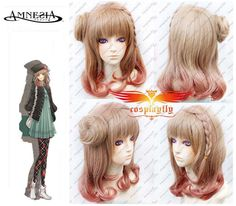 Free Wig Cap Anime Toma AMNESIA Blonde Short Party Fluffy Cosplay Wig