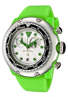 Glam Rock Womens Miami Beach Chronograph White Dial Silicone Watch ** Read more by visiting the link on the image. Rock Watch, Brand Name Watches, Beautiful Watches, Glam Rock, Miami Beach, Luxury Jewelry, Fashion Watches, Chronograph, Watches For Men