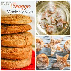 paleo orange maple cookies