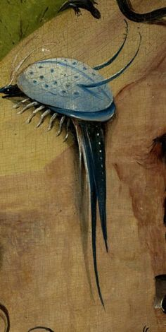 Detail from The Garden Of Earthly Delights, Hieronymus Bosch, 1490 - 1510 Hieronymus Bosch, Magritte, Pieter Bruegel, Garden Of Earthly Delights, Old Master, Teaching Art, Macabre, Art World, Art Lessons