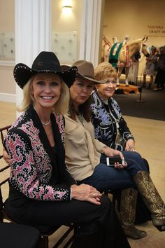 Past National Cowgirl Hall of Fame honorees during the 2013 Induction Luncheon.