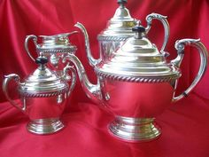 Stunning Art Deco Silver Dutch Style Tea & Coffee Service