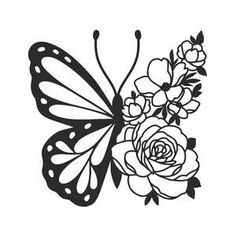 Silhouette Design Store - New Designs Silhouette Projects, Silhouette Design, Silhouette Files, Silhouette Cameo, Butterfly Drawing, Cricut Craft Room, Cricut Creations, Vinyl Projects, Vinyl Designs
