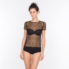 Body - PLUME - BLACK - lingerie | Princesse tam.tam