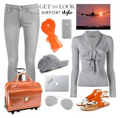 """GET the LOOK: AIRPORT Style"" by rasaj ❤ liked on Polyvore featuring Sanchita, Frame Denim, Alexander McQueen, McKleinUSA, Case-Mate, Vinyl Revolution, Acne Studios, GetTheLook and airportstyle"