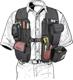 With real made in the USA quality the Occidental tool vest carries your tools without strain, even integrates with your tool belt. Get it at Duluth Trading! Tool Pouch, Tool Belt, Woodworking Vest, Woodworking Classes, Woodworking Ideas, Occidental Leather, Carpentry Tools, Cool Gear, Work Tools