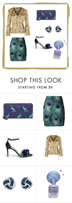 """""""peacock"""" by mrshemmings-di ❤ liked on Polyvore featuring Kate Spade, Jimmy Choo and Topshop"""