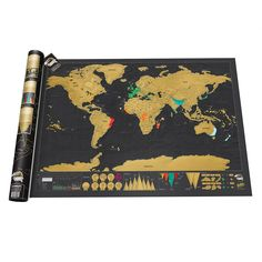 SCRATCH MAP DELUXE | Scratch off the places you have been to reveal a colorful map beneath!