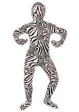 Kinder Morphsuit Zebra Ganzkörperanzug schwarz-weiss aus unserer Kategorie Morphsuits. Mit diesem genialen Morphsuit für Kinder verwandelt sich Ihr Kleiner in das wohl verrückteste Zebra, das es jemals gab. Ein originelles Faschingskostüm, das die Blicke auf sich ziehen wird!
