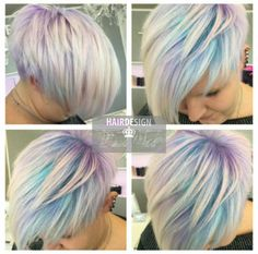 Awesome - All Hair Styles Bold Hair Color, Hair Color And Cut, Pastel Pixie Hair, Pelo Multicolor, Creative Hair Color, Pelo Pixie, Great Hair, Awesome Hair, Haircut And Color