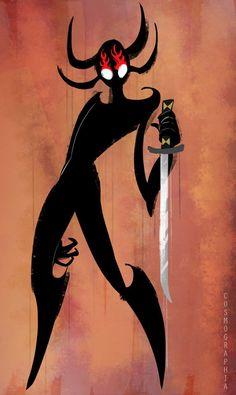 Cosmographiarte — HA HA my hand slipped. Ashi Samurai Jack, Character Art, Character Design, Samurai Artwork, Scary Art, Creepy, Video Game Anime, Demon Art, Cool Cartoons