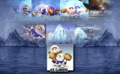 Check out this awesome collection of Super Smash Bros. Brawl wallpapers, with 41 Super Smash Bros. Brawl wallpaper pictures for your desktop, phone or tablet. Ice Climber, Super Smash Bros, Climbers, Background Images, Animation, Awesome, Video Games, Nintendo, Poster