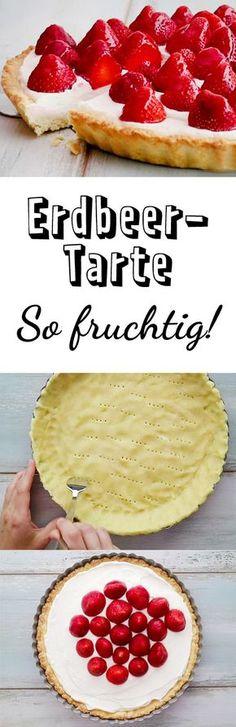 Super leckerer Mürbeteig! Anstatt Naturjoghurt mit Erdbeerjoghurt... jam, jam...