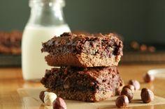 Hazelnut Brownie Bars