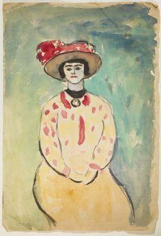 Marc LAFARGUE, (Toulouse, 1876 - Toulouse, 1927), Femme au corsage tacheté, 1896-1927, Inv. 61 7 26. Non exposée. © Musée des Augustins, Toulouse, photographie Daniel MARTIN