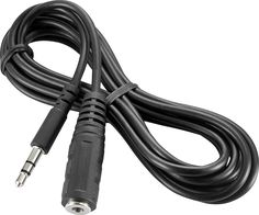 Insignia™ - 6' 3.5mm Mini Audio Extension Cable - Black, NS-HZ304