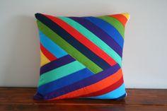 Falling Rainbow Pillow Cover from flyawayquilts.bigcartel.com