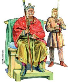 Bolesław Chrobry-malował Marek Szyszko Dark Ages, Historical Pictures, Poland, Warriors, Medieval, Crown, Fictional Characters, Art, Lithuania